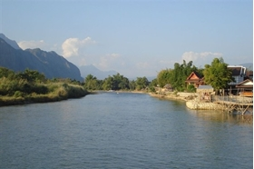 VANG VIENG, A PICTURESQUE TOWN IN LAOS