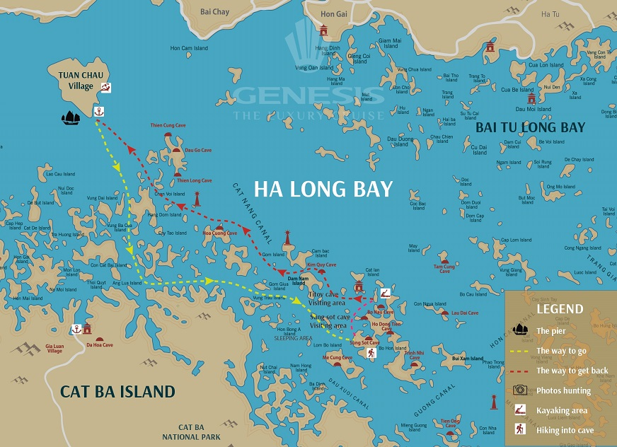 Halong Bay Luxury Day Tour - Small Group - Genesis Cruise